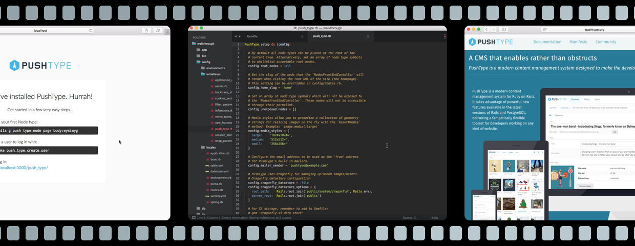 Screencast: Getting started with PushType