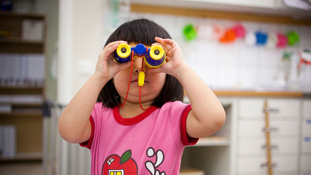 What can businesses learn from preschoolers about the importance of a consistent tone of voice?